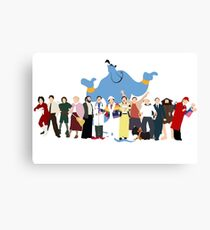 NO BACKGROUND Even More Minimalist Robin Williams Character Tribute Canvas Print