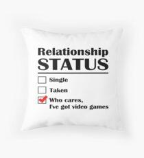 Beziehungsstatus Videospiele Dekokissen