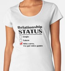 Relationship Status Video Games Women's Premium T-Shirt