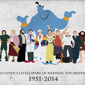 Minimalist Inspired Robin Williams Character Tribute by tylerboyco