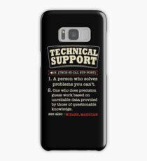 Tech Support Definition SysAdmin Shirt Samsung Galaxy Case/Skin