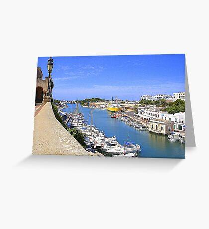 Ciutadella Harbour Greeting Card