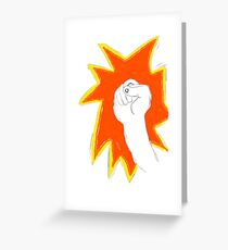 fist fight power Greeting Card