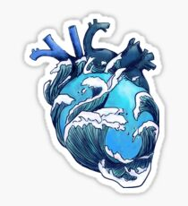 Blue Ocean Heart [MS05] Sticker