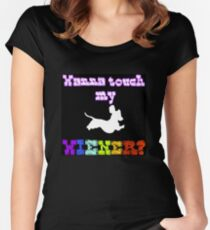 Touch My Wiener? Women's Fitted Scoop T-Shirt