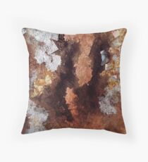 Copper and Silver  Throw Pillow
