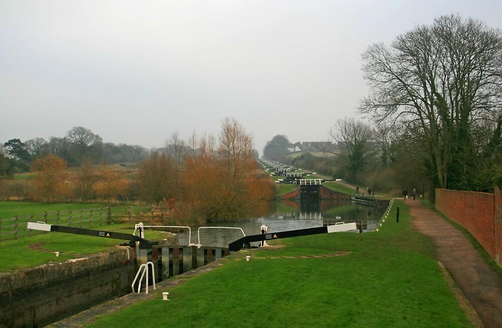 Caen Hill Locks by RedHillDigital
