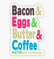 Keto eat and repeat Sticker