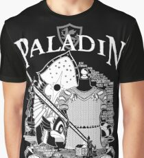 RPG Class Series: Paladin - White Version Graphic T-Shirt