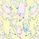 Polar Bears Yellow Dance by Edward Huse