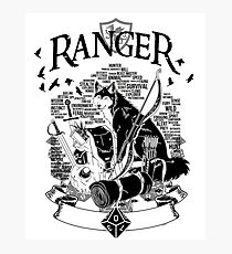 RPG Class Series: Ranger - Black Version Photographic Print