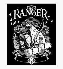 RPG Class Series: Ranger - White Version Photographic Print