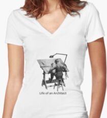 Life of an Architect Women's Fitted V-Neck T-Shirt