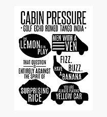 Cabin pressure moments  Photographic Print