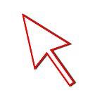 Cursor Arrow Mouse Red Line by Henrik Lehnerer