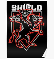 The Shield Hounds Red Poster