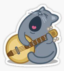 Musical Cat Tshirt Sticker