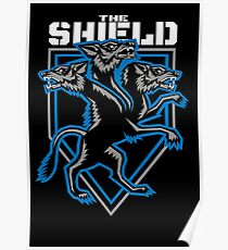 The Shield Hounds Blue Poster