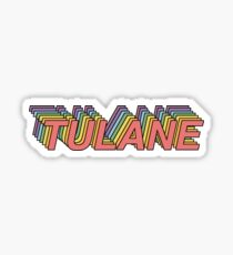 Colorful Tulane Sticker