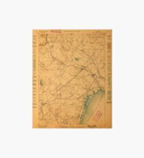 Maine USGS Historical Map Kennebunk 807535 1898 62500 Art Board