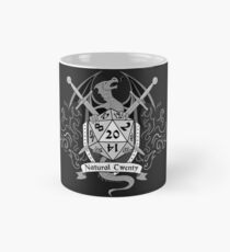 Natural 20 Crest - D&D (Black) Mug
