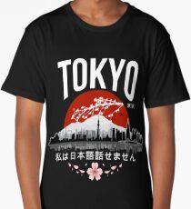 Tokyo - 'I don't speak Japanese': White Version Long T-Shirt