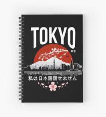 Tokyo - 'I don't speak Japanese': White Version Spiral Notebook