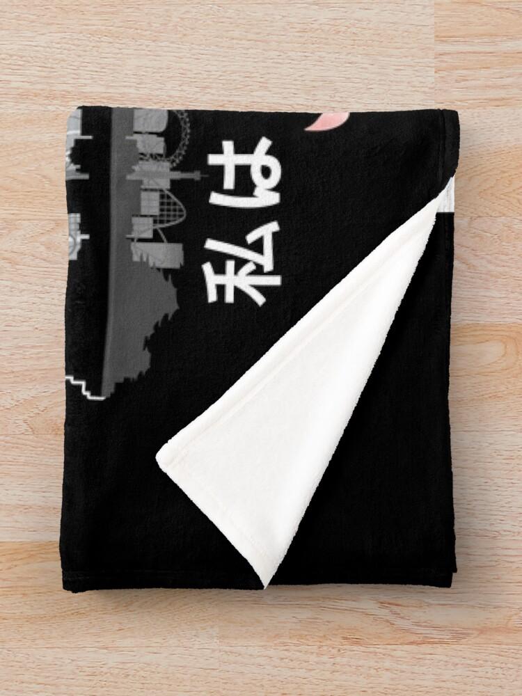 Alternate view of Tokyo - 'I don't speak Japanese': White Version Throw Blanket