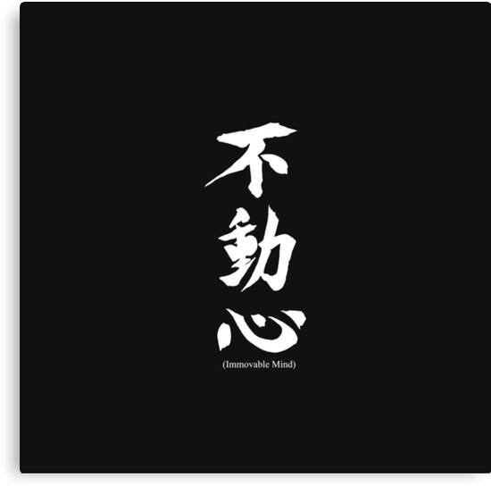 Fudoshin Japanese Kanji Meaning Immovable Mind by Blkstrawberry
