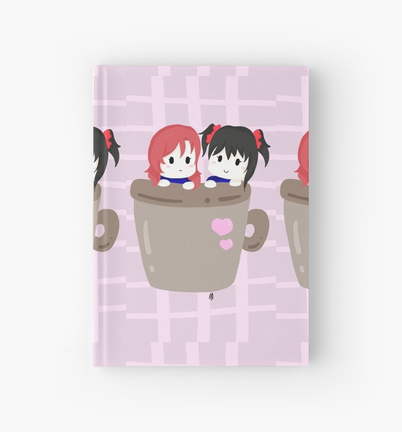 maki x nico mug art background by angiethechibi