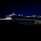 Star Princess at Night by George Cousins