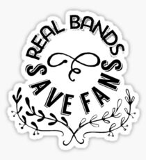 Real Bands Save Fans Sticker