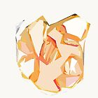 Golden Heart Abstract Art Print by KirtTisdale