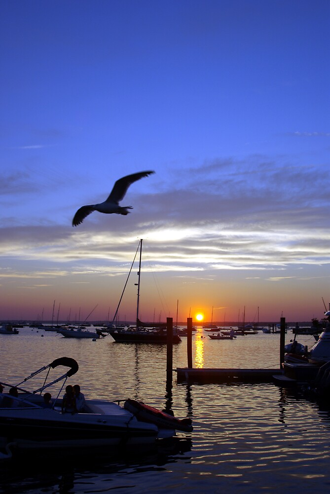 Sunset At Watch Hill RI by marksphotos20