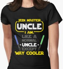 jedi master uncle gift womens fitted t shirt