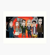 Librarians and the Raiders of the Looney Zone Art Print