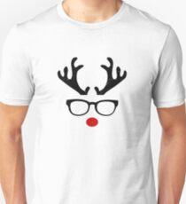 Reindeer Christmas Shirt Antlers Girl Xmas Night Tee Unisex T-Shirt