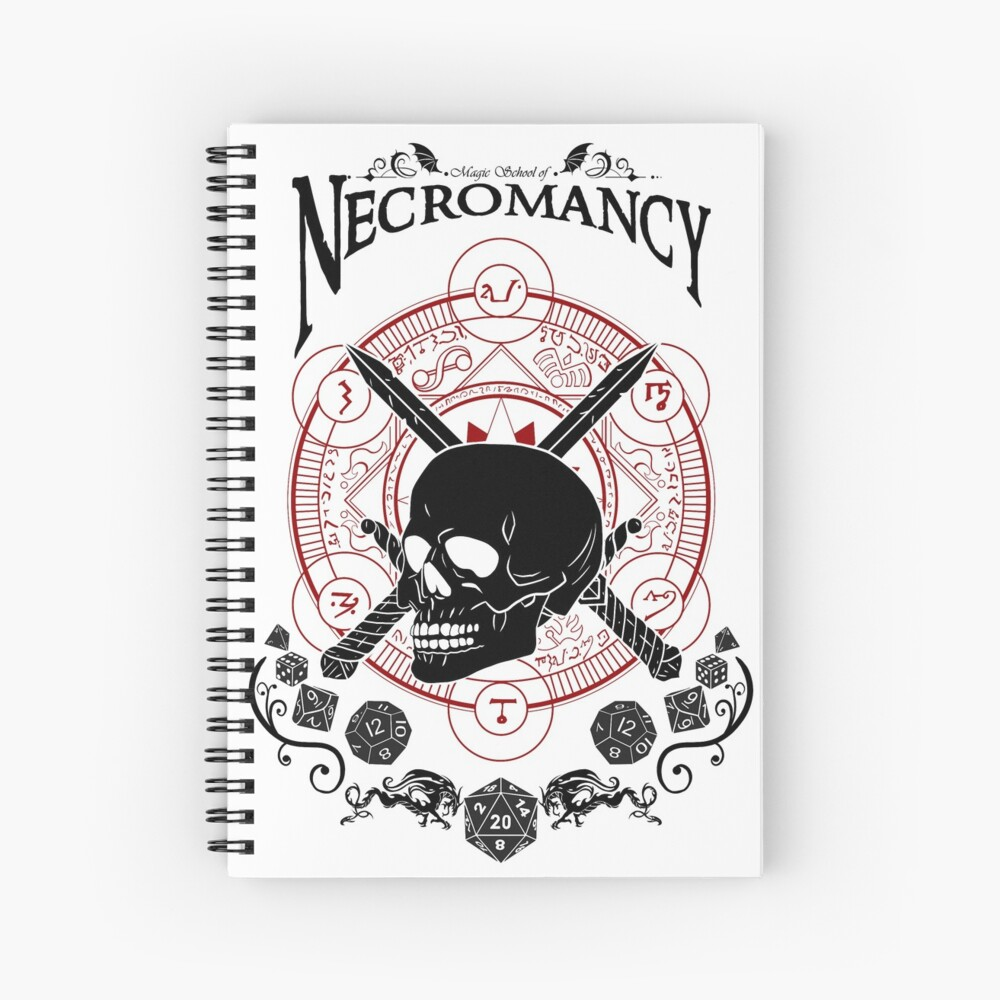 Necromancy - D&D Magic School Series : Black Spiral Notebook