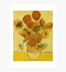 'Still Life with Sunflowers' by Vincent Van Gogh (Reproduction) Art Print