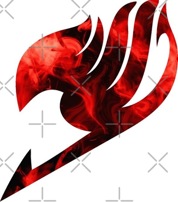Fire red fairy tail emblem by chiefwizart redbubble - Embleme de fairy tail ...
