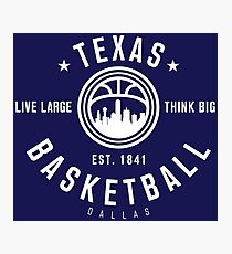 Texas Dallas Basketball Photographic Print