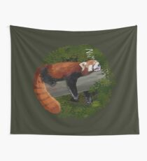 Sleepy Red Panda  Wall Tapestry