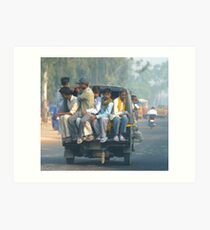 Car Pool - India Art Print