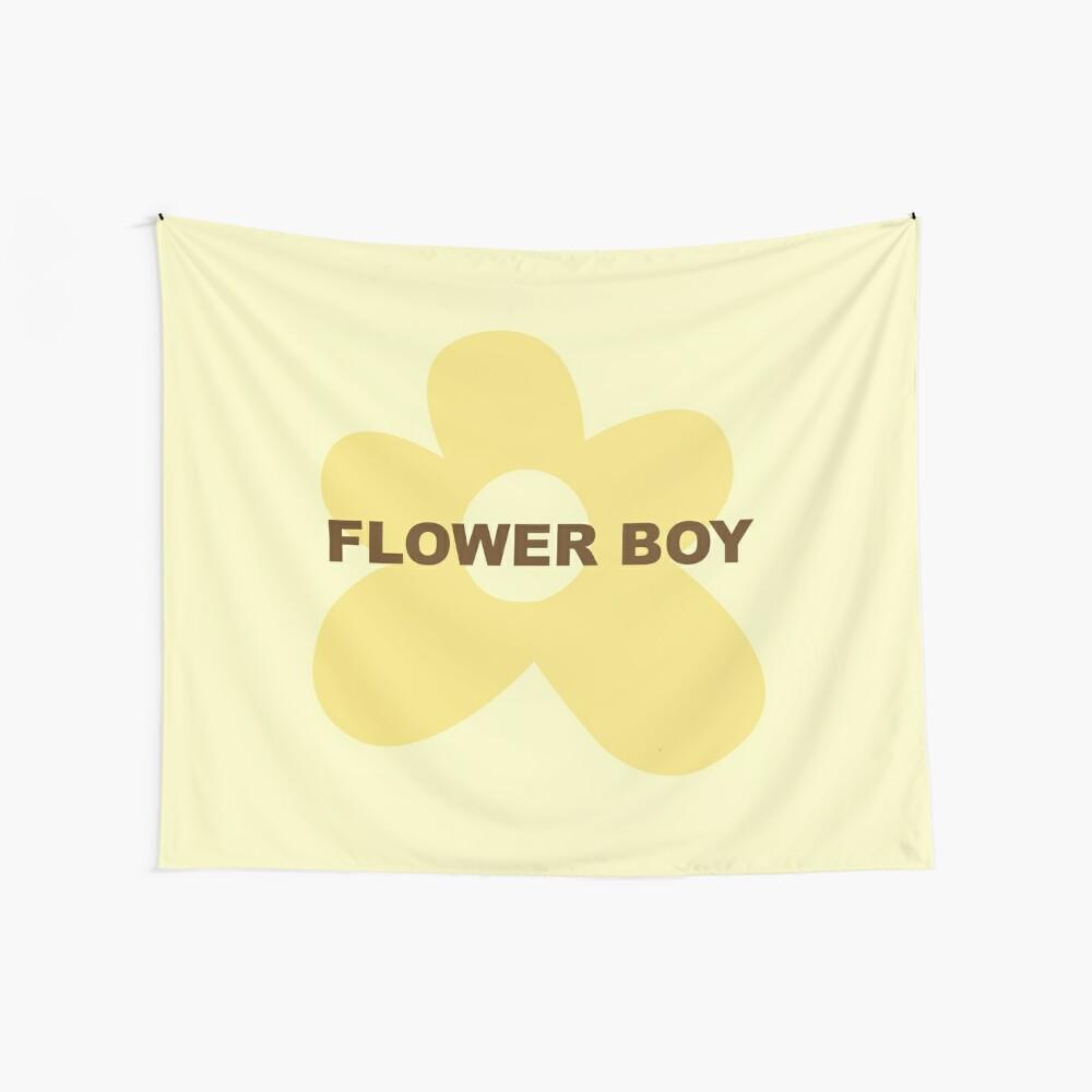 Blumenjunge Wandbehang