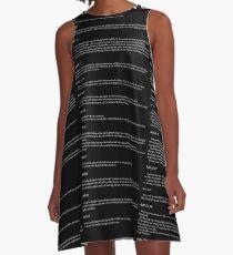Universal Declaration of Human Rights Black Background A-Linien Kleid