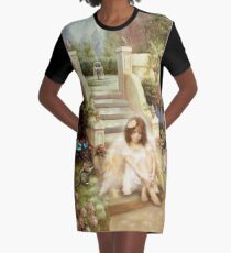 Angelic Serenity Garden Products Graphic T-Shirt Dress