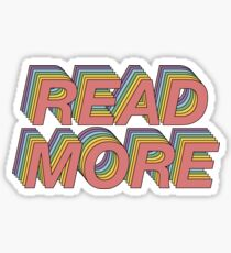 Read more! Sticker