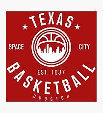 Texas Houston Basketball Photographic Print