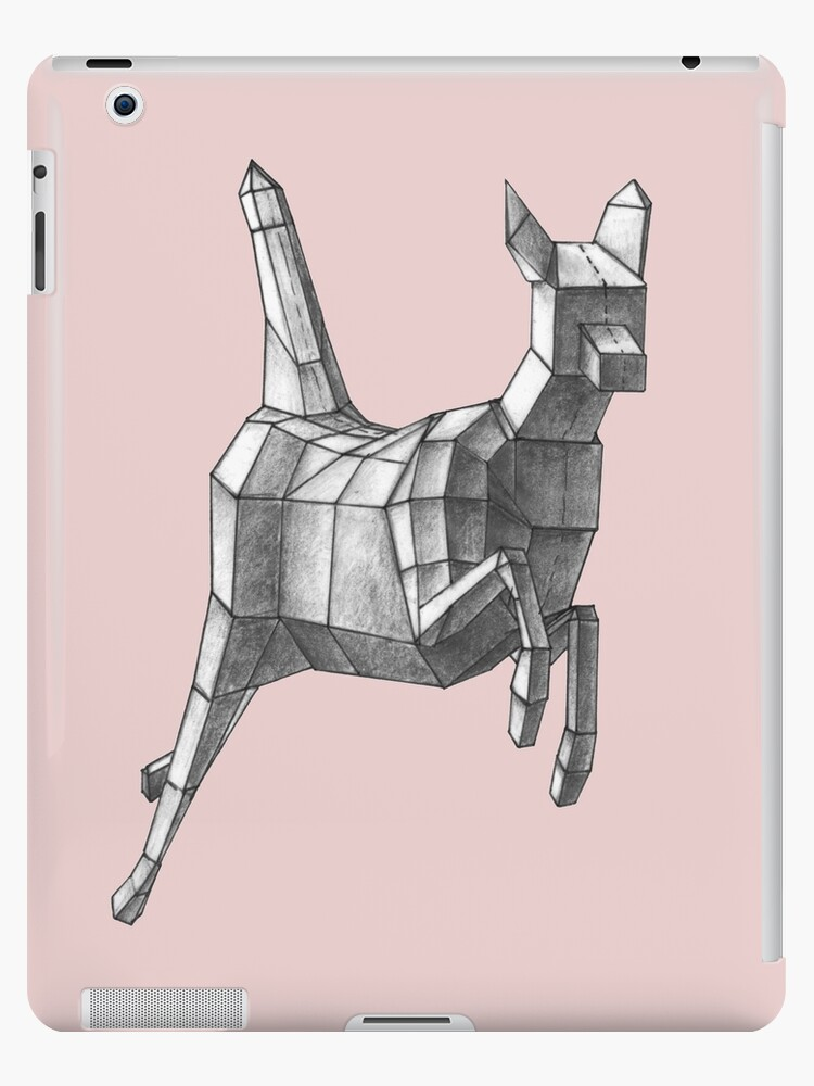 Geometric Leaping Deer by Audrey Howell