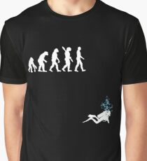 Evolution of Man Funny Scuba Diving Graphic T-Shirt